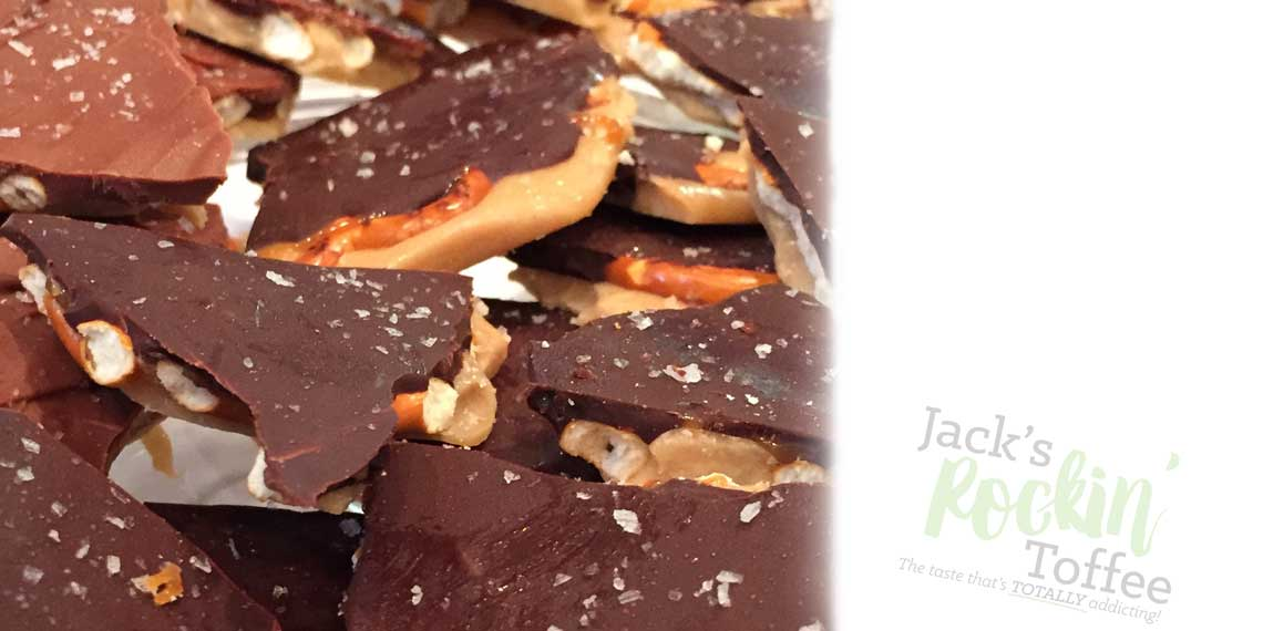 Slider Image: Close up view of Jack's Rockin' Toffee